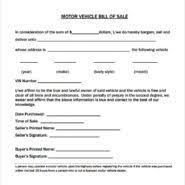 Free Bill Of Sale Contract Template For Buying Or Selling Items ...