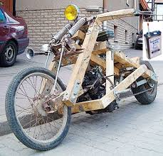 wooden motorcycle is the ultimate rat bike at motorcycle site of