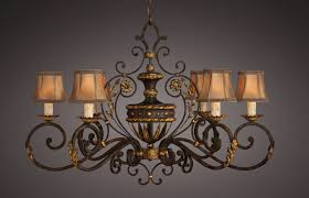 fine art lamps 218540 castile wrought iron and gold old world oblong chandelier loading zoom