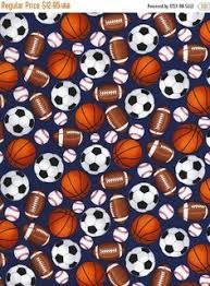 Mixed Sports Balls Fabric / Soccer, Football, Baseball / Timeless ... & YEAR END SALE Mixed Sports Balls~Cotton Fabric Clothing,Quilt,Timeless  Treasures, Adamdwight.com