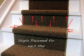 DIY instructions for installing a carpet stair runner
