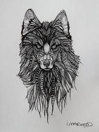 27 Cute Wolf Tattoo Sketch For Pictures Tattoo Design