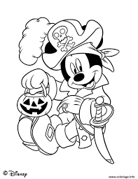 Coloriage Disney Disneyland Halloween Dessin