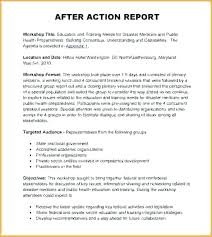 After Action Report Sample Amazing Fema After Action Report Template Lopar