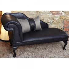 rose faux leather chaise available in several fabric leg colours