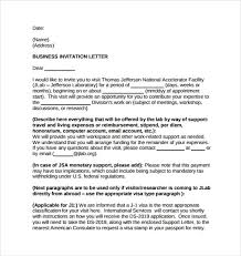 Formal Business Invitation Wording 13 Sample Invitation Letters Writing Letters Formats
