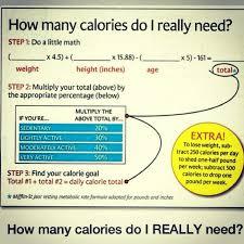how many calories do i really need