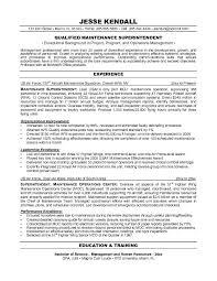 Resume Sample Maintenance Resume Objective Statement Resume Cover