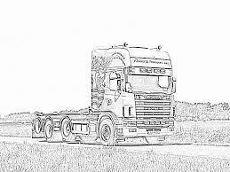 Kleurplaat Vrachtwagen Mack Scania Kleurplaat Genspireerd Kleurplaat