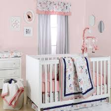 details about fl dot c grey navy baby girl crib bedding 11 piece nursery set