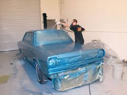 spray the finish paint