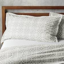 taza grey twin duvet cover white medallions trellis on soft grey in a moroccan