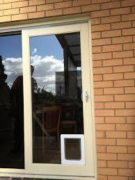 small pet cat flap dog door for glass security door security screen fitting installations