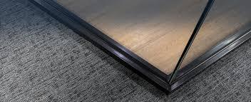 alufire frameless fire resistant glazing corner