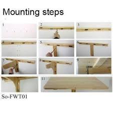 wall mounted drop leaf table folding