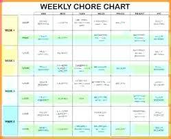 Calendar Chore Chart Template House Chore List Template Thepostcode Co