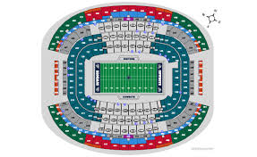 Dallas Cowboys Seating Chart Dallas Cowboys Home Schedule 2019 Seating Chart