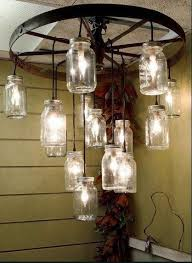 diy mason jar chandelier elegant how to make a wagon wheel chandelier with mason jars of