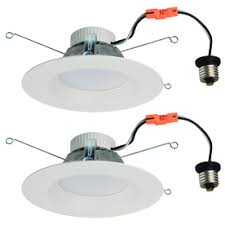 dimmable led recessed lights lowes. utilitech 2-pack 65-watt equivalent white dimmable led recessed retrofit downlights (fits led lights lowes l