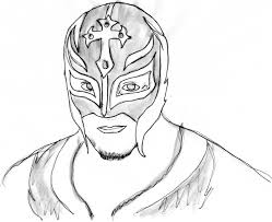 Wwe Rey Mysterio Coloring Pages With Rey Mysterio Coloring Pages