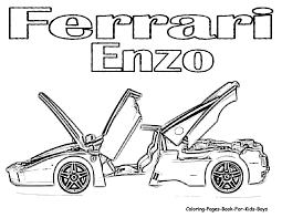 Dessin De Coloriage Ferrari Imprimer Cp11448