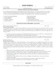 Construction Operation Manager Resume 10 Construction Manager Resume Sample Student Aid Services