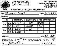 Eyeglass Prescription Wikipedia
