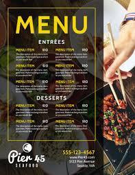 Restaurant Menu Template Stylish Restaurant Menu Template