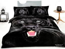 animal bedroom design with queen size bed frame and 3d black panther bedding sets bedroom