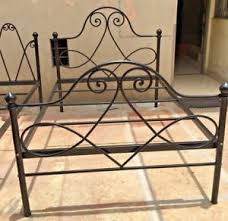 Wrought Iron Bed Queen Size Antique Double Bed Headboard Bed Frame ...