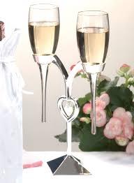 unique champagne flutes. Silver Heart Toasting Flutes Unique Champagne