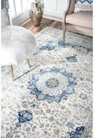 nuloom verona contemporary medallion modern white blue area rug 2 x 3 for