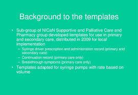 Regional Template For Syringe Pump Prescription And