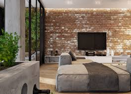 wonderful living rooms with exposed brick walls xh14