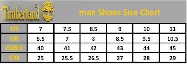 Timberland Men S Shoe Size Chart Timberland Boots For Men Black White