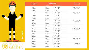 bike size chart how to choose right