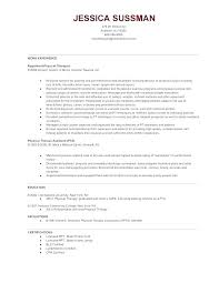 Physical Therapist Resume Template Physiotherapist Resume Format ...