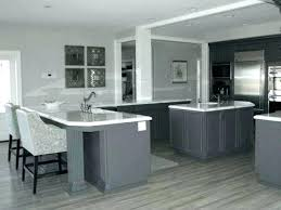 gray cabinets with white countertops gray kitchen