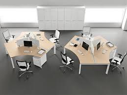 furniture modern office desk shape design  nila homes