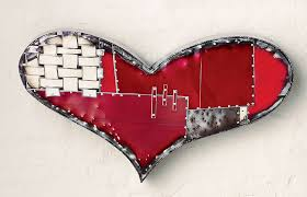 on home is where the heart is metal wall art with chubby heart by anthony hansen metal wall sculpture artful home