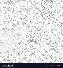 Curly Patterns And Designs Seamless Abstract Curly Floral Pattern
