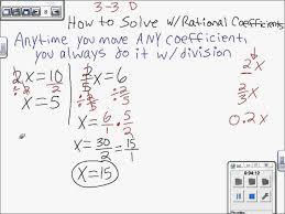 sec 3 2 4 solve multi step equations mpm1d grade 9 math solving solving linear equations example