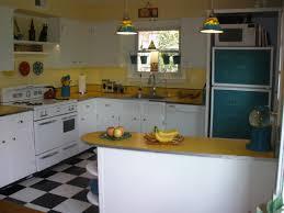 Yellow Kitchen Countertops U Shape Kitchen Decoration Using Light Brown Yellow Retro Kitchen