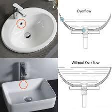 flg bathroom vessel sink pop up drain stopper without overflow brushed nickel com