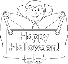 Small Picture Happy Halloween Dracula Halloween Coloring Pages For Kids To Print