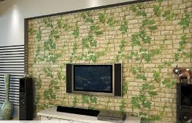 Small Picture 2015 New 3d Self Adhesive Wallpaper Leaf Stone Brick Design