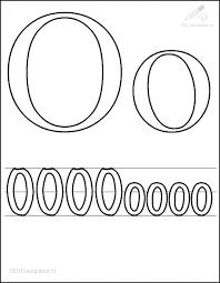 Kleurplaat Tekens Letters Kleurplaat Letter O
