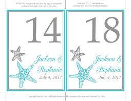 Starfish Chart Starfish Wedding Seating Chart Template Printable Wedding