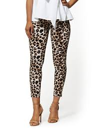 Whitney High-Waisted Pull-On Ankle Pant - Leopard Print - NY&C