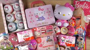 o kitty barbie candy toys disney princess minnie mouse kinder surprise playmobil pez